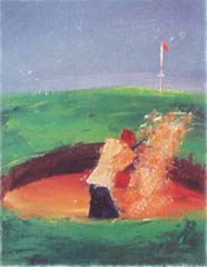 <I>' Golf V '<BR>ingelijste poster - Wil Willemsen</I>