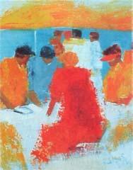 <I>' Golf VI '<BR>ingelijste poster - Wil Willemsen</I>