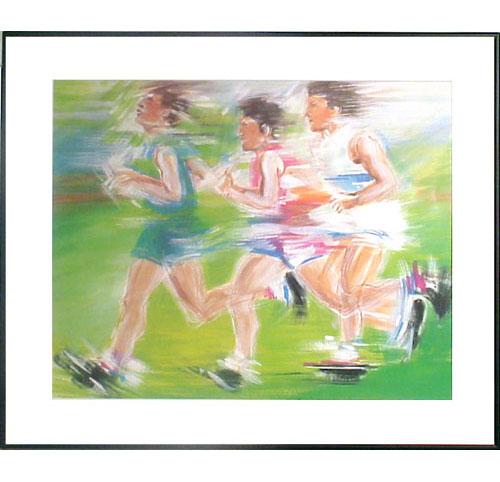 <I>' Marathon '<BR>ingelijste poster - Anneke Dekkers</I>
