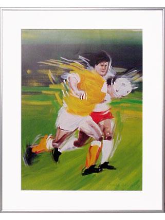<I>' Soccer OR '<BR>ingelijste poster - Anneke Dekkers</I>