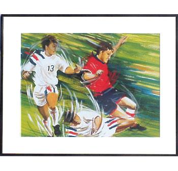 <I>' Soccer H13 '<BR>ingelijste poster - Anneke Dekkers</I>