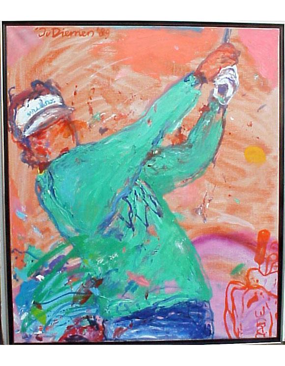 <I>' Golf Rose Groen ' 89  ' <BR> Jan van Diemen</I>