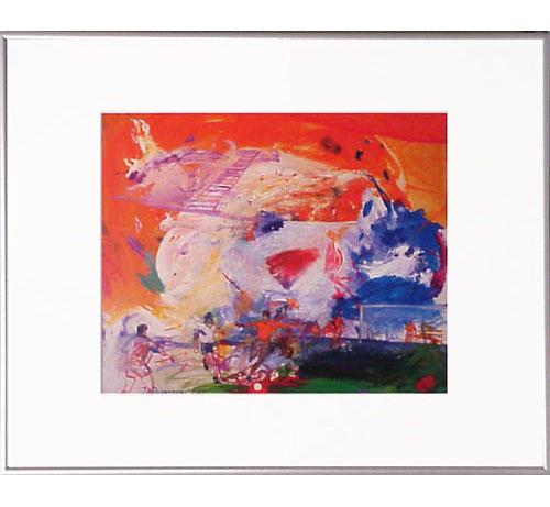 <I>'  WK Voetbal ' <BR>ingelijste poster - Jan van Diemen</I>