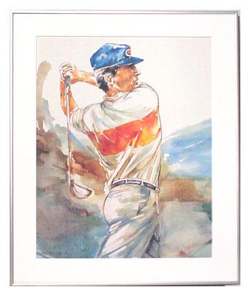 <I>' Golfer '<BR>ingelijste poster - Wim Hoogstraten</I>