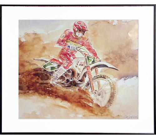 <I>' DAKAR 2003 '<BR>ingelijste poster - Wim Hoogstraten</I>